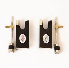 Großhandel 5 Sätze Qualität Nagelneu Ebenholz Violine 4/4 Bogen Frosch Ablone Voll Gezeichnet Nickel Silber Teile