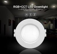 Ми свет 6 Вт/12 Вт rgbcct (RGB + теплый белый/белый) светодиодные светильники по Wi-Fi LED Управление Лер 2.4 г Дистанционное управление Яркость диммер