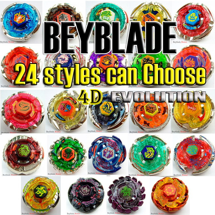 24 style 1pcs Beyblade Metal Fusion 4D BB Without Launcher Fighting gyro font b Spinning b