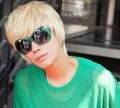 Beige Short Man's Fashionable Top Quality Synthetic Hair Cosplay Party Wig.Free shipping
