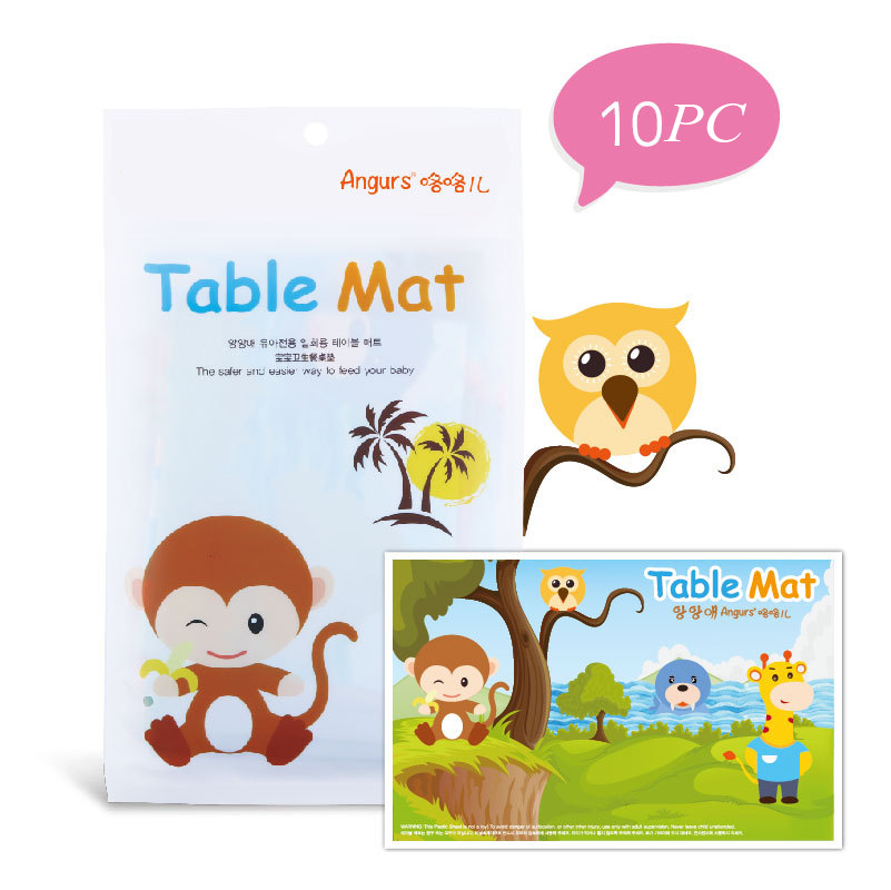 Baby Feeding Mat Toddlers  Placemat Dishwasher Safe Fits Most High Chair Trays Tableware Disposable Placemats For Table Mat