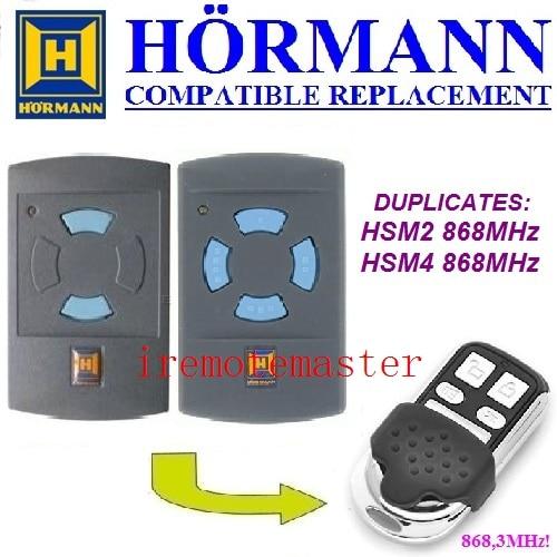 Hormann HSM2 868, HSM4 868 mhz remplacement télécommande top qualité
