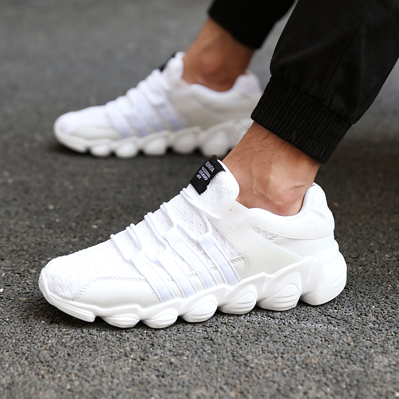 Men's Shoes Male Fashion Casual Shoes Summer Comfortable Breathable White Sneaker Man Chaussures Pour Hommes High Quality Adult Men Gym Shoe Convenience Goods