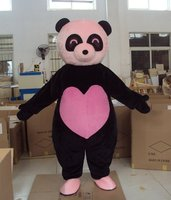 Pink Panda Bear Cartoon Character Costume Cosplay Mascot Custom Products Custom Made S M L Xl