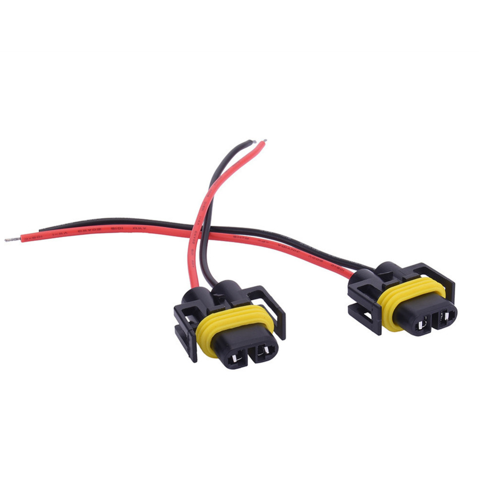 2pcs H11 Wiring Harness Socket Female Adapter Car Auto Wire Connector Cable  Plug For HID Xenon Headlight Fog Light Lamp Bulb-in Car Headlight  Bulbs(LED) ...