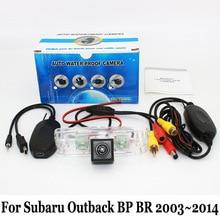 Автомобильная Камера Заднего вида Для Subaru Outback ВР BR 2003 ~ 2014/RCA AUX Проводной Или Беспроводной/HD CCD Ночного Видения Автомобиля Резервную Камеру