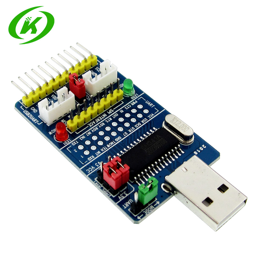 ALL IN 1 CH341A USB to SPI I2C IIC UART TTL ISP Serial Adapter Module EPP/MEM Converter For Serial Brush Debugging RS232 RS485 pl2303hx usb to ttl converter adapter module w dubond thread blue