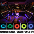 Más nuevas de DIY EL Alambre Para Lexus HS250h/CT200h/LX 470 570/la Decoración del coche Atmósfera Romántica de La Lámpara de Luz Fría/9 Metro Un Conjunto