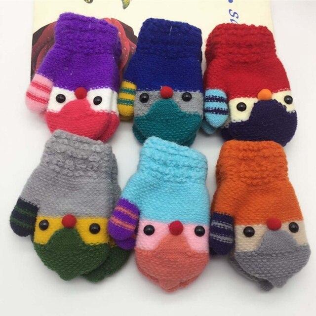 Kinderen Gebreide Elastische Fleece Dikke Haak Handschoenen