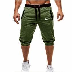 Мужские Мешковатые джоггеры повседневные тонкие шаровары мягкие 3/4 брюки модные новые Брендовые мужские спортивные брюки Летние удобные