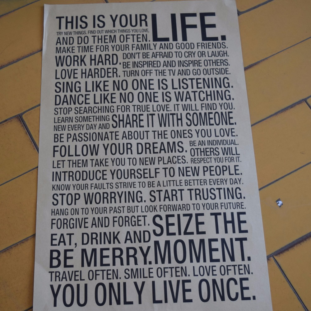 This Is Your Life Quote Poster Hot World Popular Quote This Is Your Life Vintage Painting