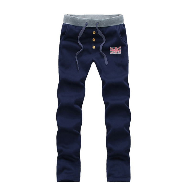 New arrivals fashion men casual straight pants union jack trousers pantalones para hombres M-3XL 4XL 5XL cx88