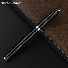 MONTE MOUNT Luxury black roller ball pen office school supplies Hot sale Blance brand pen Gift(China)