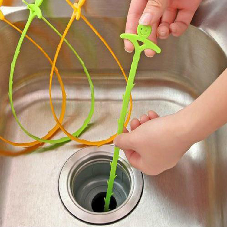 1PC Sink Cleaning Hook Bathroom Floor Drain Sewer Dredge Device Sewer Cleaning Brush Bathroom Kitchen Accessories-in Cleaning Brushes from Home & Garden