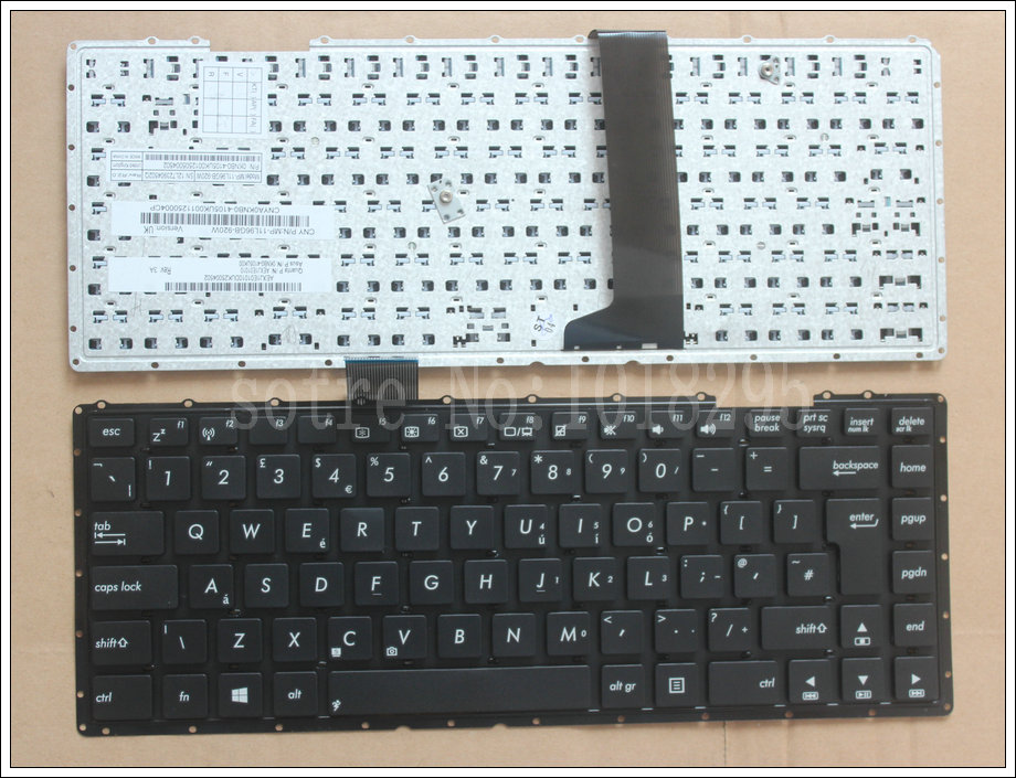 New FOR ASUS X401 X401A X401U 0KNB0-4109UK00 AEXJAE00010 MP-11L96GB-9202W UK Layout Laptop KeyboardNew FOR ASUS X401 X401A X401U 0KNB0-4109UK00 AEXJAE00010 MP-11L96GB-9202W UK Layout Laptop Keyboard
