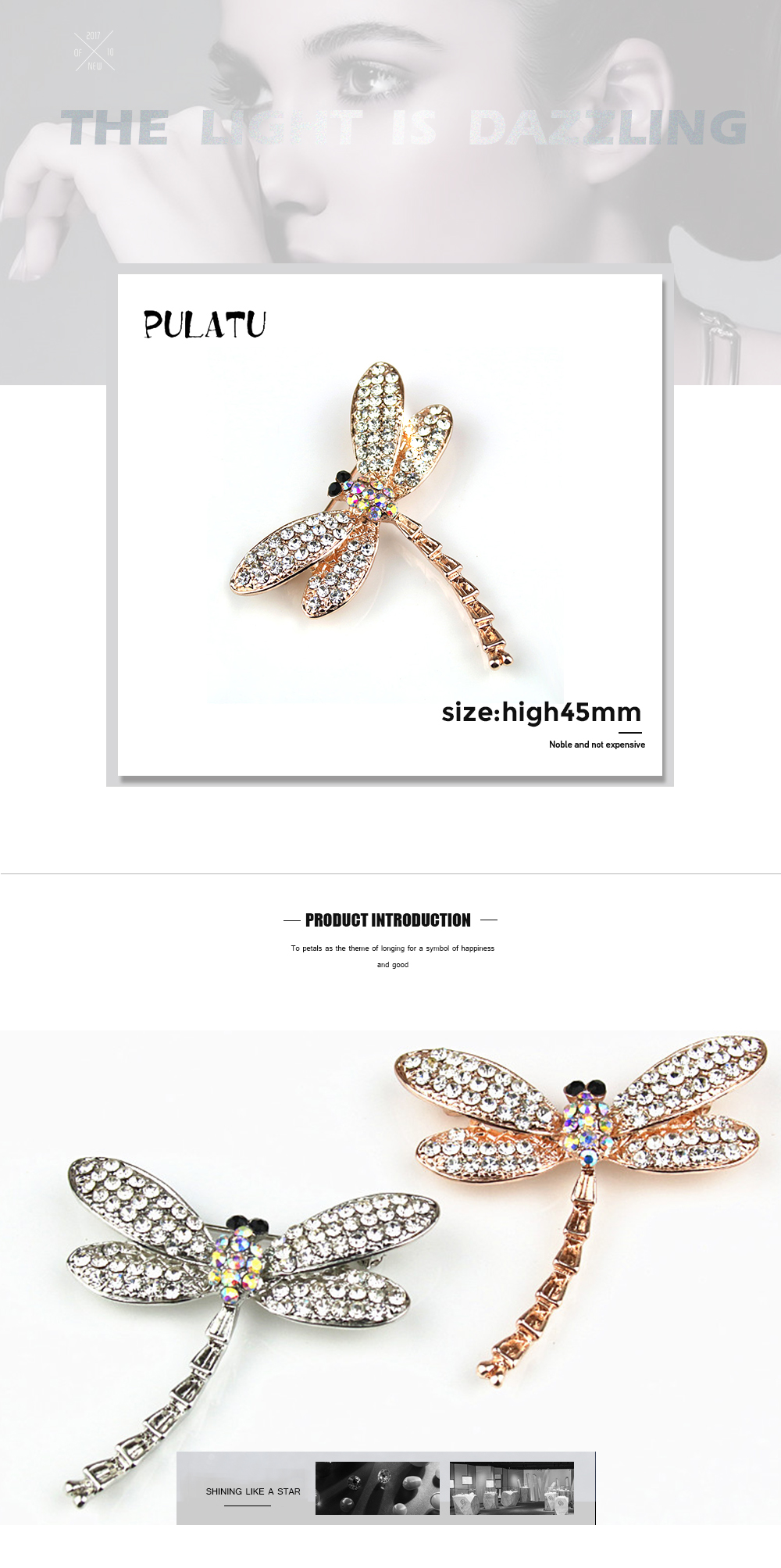 US $5 69 28% OFF|PULATU dragonfly jewelry women brooches fashion party  decoration pins Zinc alloy brooch new year gift clothing accessories-in