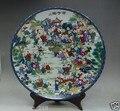 10 дюймов китайская семья роза ручная роспись 100 детская схема фарфоровая большая тарелка