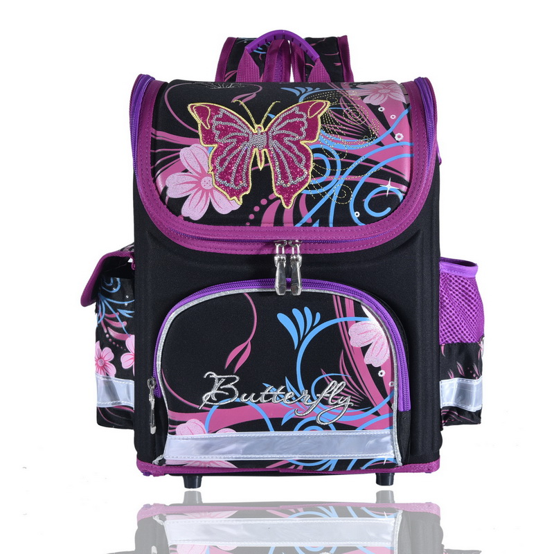 691d3fabdec3 wenjie brother Kids butterfly Schoolbag Backpack EVA Folded Orthopedic  Children School Bags For Boys and girls Mochila Infantil wholesale children  school ...