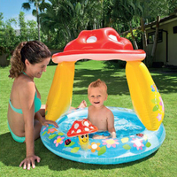 Baby Inflatable Pool Swimming Pools Awning Pools Basin For Children Summer Baby Pool Mushroom Kids Garden Pools Baby Water Pool