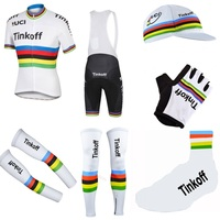 Pro Team Tinkoff Champion 7PCS Full Set Cycling Jersey Short Sleeve Quickdry Bike Clothing MTB Ropa