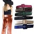 6 de Terciopelo de color 5 cm cinturones femeninos ropa decorativo cinturón ancho de banda para las mujeres capa de la manera con la correa