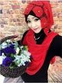 muslim hijabs ,Hot Fashion Headband Crystal Scarves Color All-match Pleated Muslim Hijab Female/Women Scarf