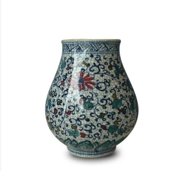 Jingdezhen ceramics porcelain vase painted porcelain Fu doucai porcelain ornaments Home Furnishing statue bottle tube