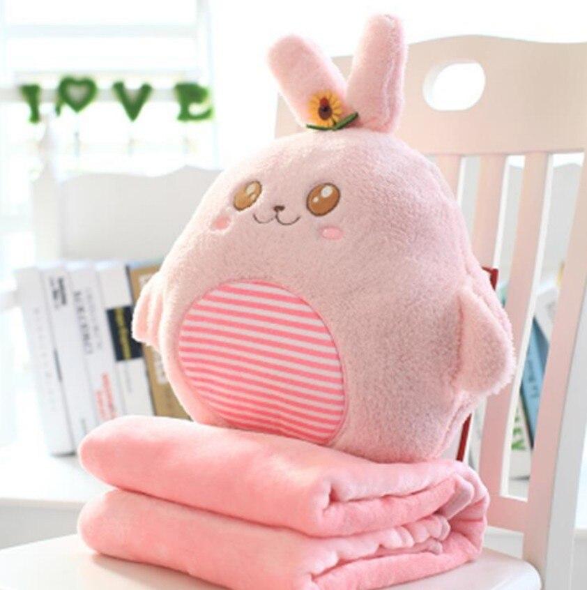 Cartoon Animal Toy 30x30cm Stuffed Pillow 100x170cm Cushion Blanket Coral Fleece Warm Baby Boys Kids Toy Car Sofa Blanket B308