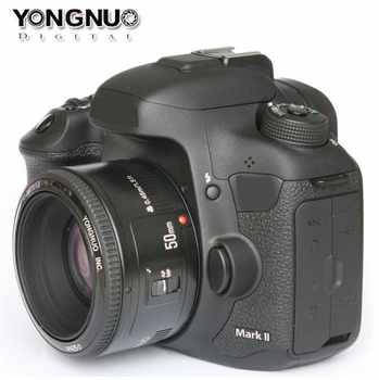 YONGNUO Lens YN50mm f1.8 EF 50mm f/1.8 AF Lens YN50 Aperture Auto Focus for Canon EOS T6 EOS 700D 750D 80 Canon DSLR Cameras