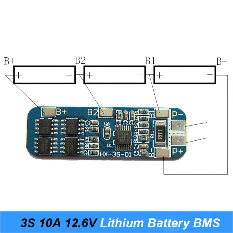 3 S 10A 12 В батарея зарядное устройство защиты доска модуль BMS для 3 шт. 18650 Lipo литий-ионный батарея зарядки клеток BMS 12,6 в 11,1 в качество