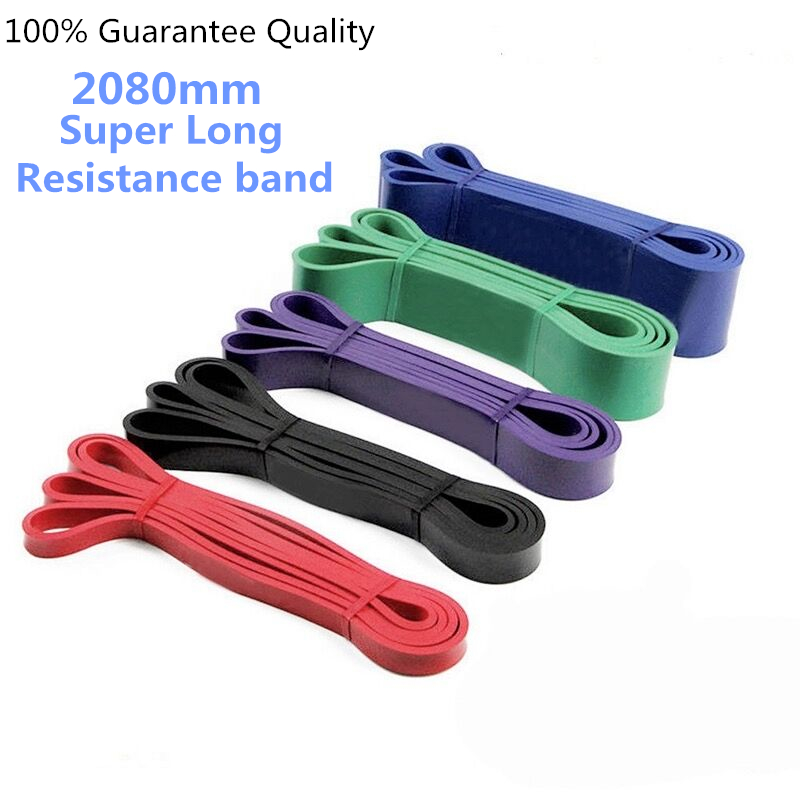 2080MM Super Long Resistance Bands Workout Ruber Gym Expander Crossfit Power Lifting Crossfit Strengthen Muscle Equipment Unsex