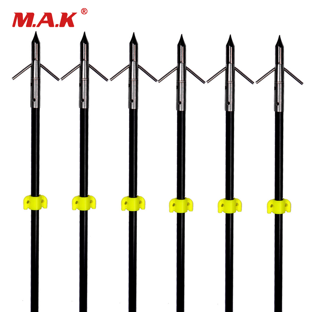 "3/6/12 pcs Professional 35"" Long Bow Fishing Shooting Arrows 8mm Fiberglass Shaft Arrows for Compound/Recurve Bow B-in Bow & Arrow from Sports & Entertainment"