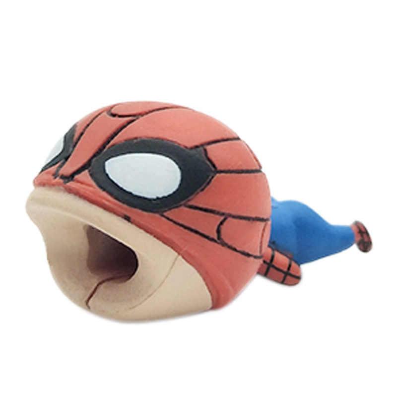 Spiderman Captain America Super Mario สาย Bite Iphone Cable Winder อุปกรณ์เสริม Cosplay Prop Dragon Ball One ชิ้น
