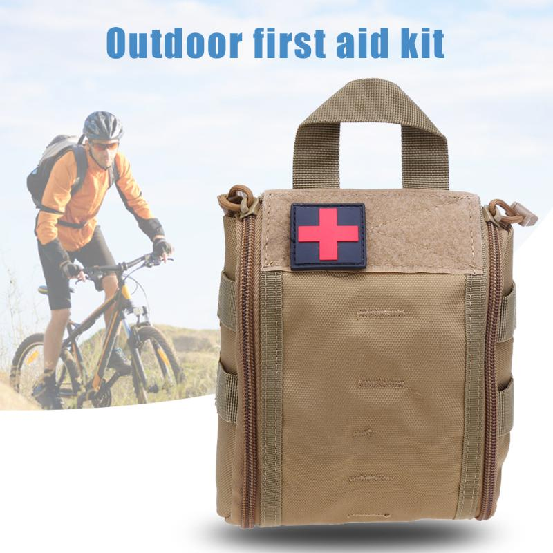 Outdoor Cycling First Aid Belt Bag Military 1000D Nylon Medical Tactical Medic Pack Magazine Pouch Vest EDC Tool Survival Bag