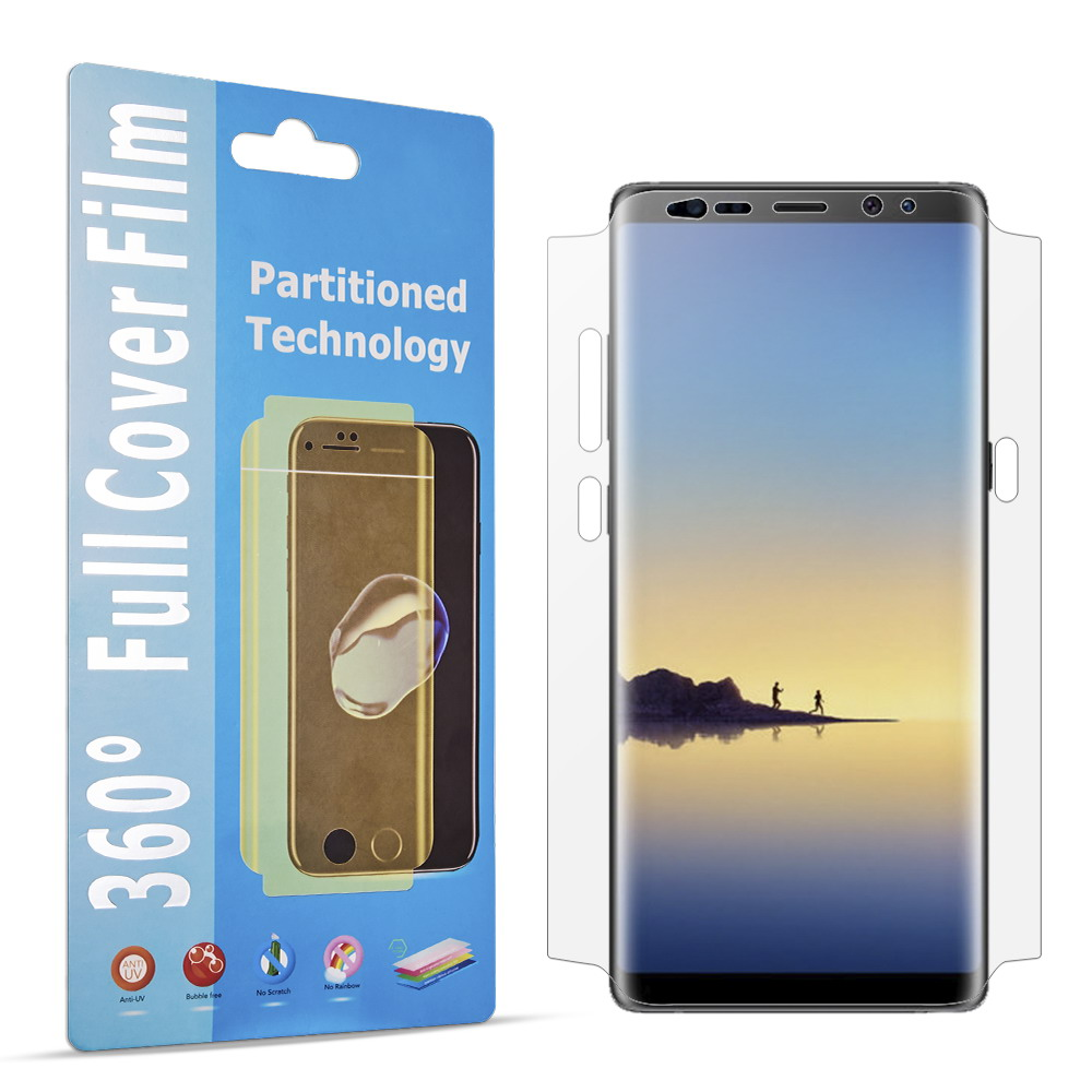360 Degree Screen Protector for S8 S9 Note8 Protective Full Film for Samsung Galaxy S8 S9 Plus Note 8 Anti-scrach Clear Film