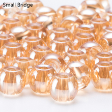 10mm Loose Round Transparent Glass Beads For Jewelry Making Bracelets Big Hole Crystal Accessories Women Perles Light Bead