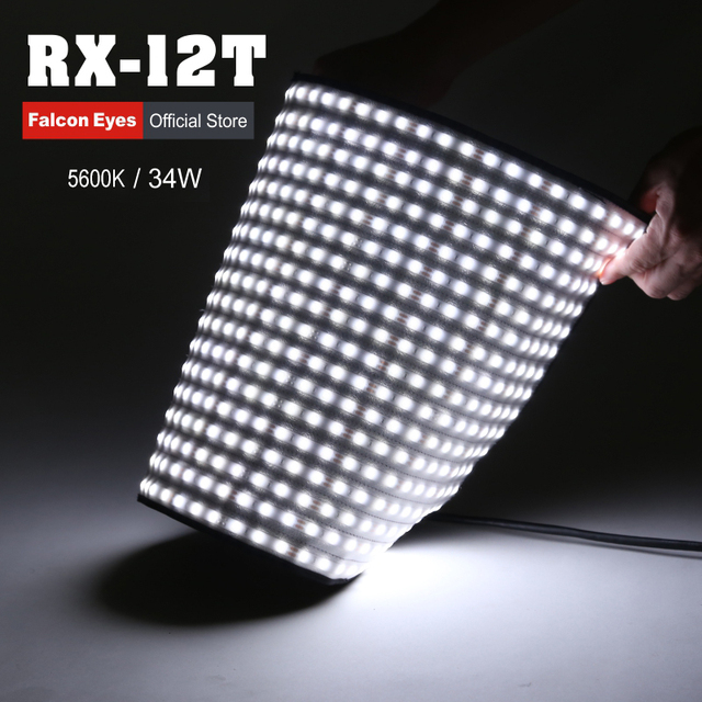 Falconeyes Portable 34W Roll-flex LED MAT 280pcs LEDs Waterproof LED Flexible Photo Light RX-12T
