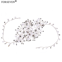 2017 New Crystal Botanic Headdress For Women Bride Rhinestones Jewelry Water Droplets Style Headbands Wedding Hair
