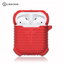 ФОТО lingchen earphone case for airpods anti-lost strap soft silicone headphone case for airpods earphone accessories protector cases