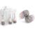 De Acero Inoxidable de la manera Joyería al por mayor de Bling CZ crystal Anillo collar pendientes sistemas de La Joyería Nupcial para Las Mujeres
