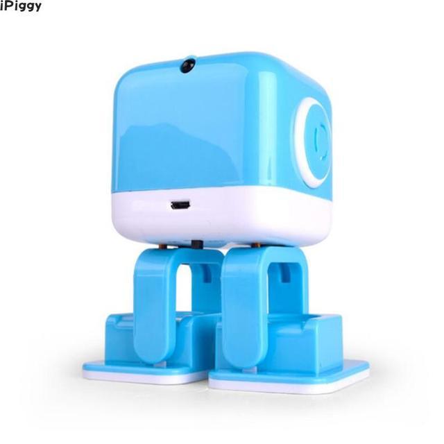 iPiggy WLtoys Cubee RC Robot Inteligente Altavoz Baile Musical Juguete Atractivo Cara Led Escritorio Regalo B Gesto Interative