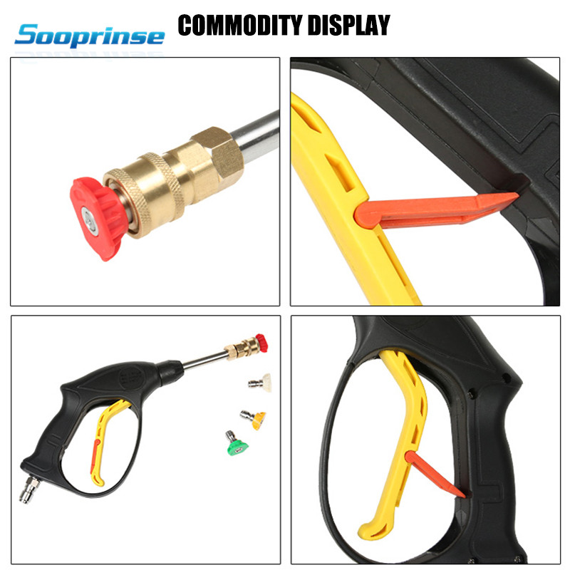 Image 4 - Sooprinse Replacement Pressure Washer Gun,High Pressure Cleaner Washer Spray Gun Dust Wash Tool with 4 Nozzles Max 3600 PSI 2019-in Water Gun & Snow Foam Lance from Automobiles & Motorcycles