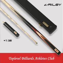 Original RILEY RES-601/RES-701 One Piece Snooker Cue High-end Billiard Kit Stick with Case 6 Extension DEER Tip