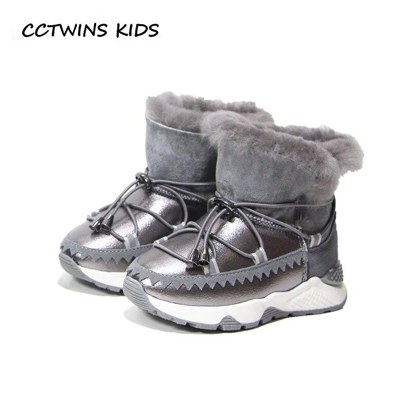 bf8501feef405 ... Fille Marque Mi mollet Boot CS1571 Pas Cher Prix . Vente CCTWINS  ENFANTS 2018 Hiver Bébé garçon En Cuir Véritable Chaud Chaussures Enfants  De Mode ...