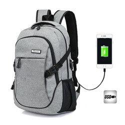 Tigernu T-B3217 Wear-Resistant USB Port 20L Leisure Backpack 14 Inch Laptop Bag Korean-Style Shoulder Bag nan bei bao Men Casual