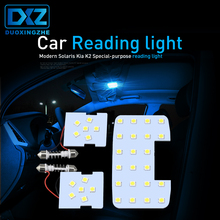 3 шт. для KIA RIO K2 2006-2014/hyundai Solaris Verna автомобилей Лампы для Чтения Купол лампы светодио дный Подсветка салона белый