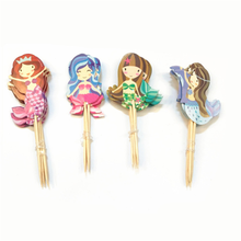 Birthday Party Decorations Kids 24 Pcs/lot Mermaid Cupcake Topper Supplies Deco Marriage