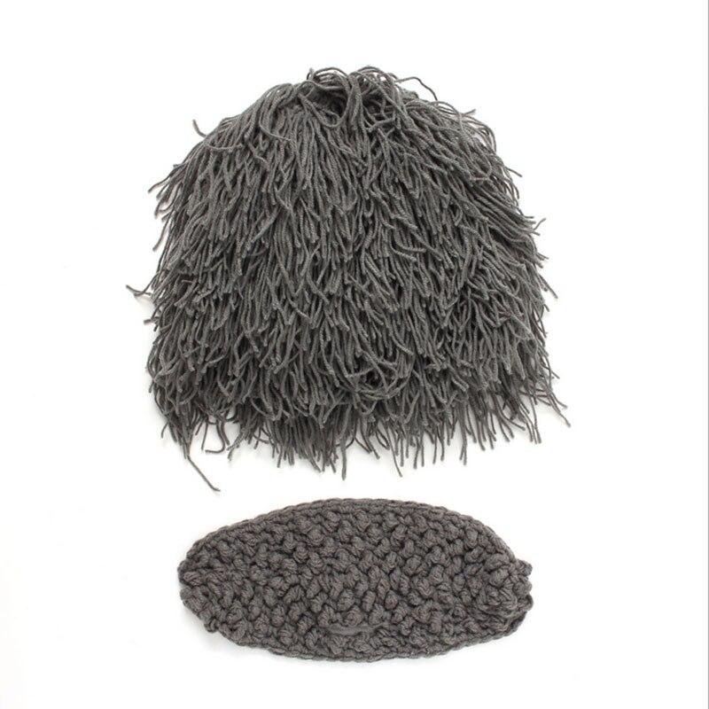 ea37289beb0 Parenting Wig Beard Hats Hobo Mad Scientist Caveman Handmade Knit ...