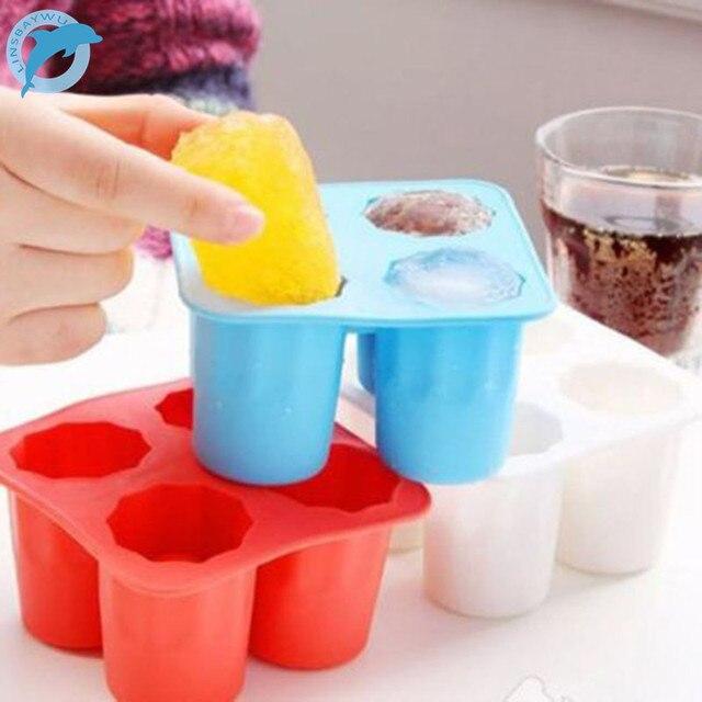 Горячее предложение только Бар партия Пейте для льда Прохладный форма льда Замораживание Mold льда плесень вы можете съесть чашки 4 чашки лед чашки плесень