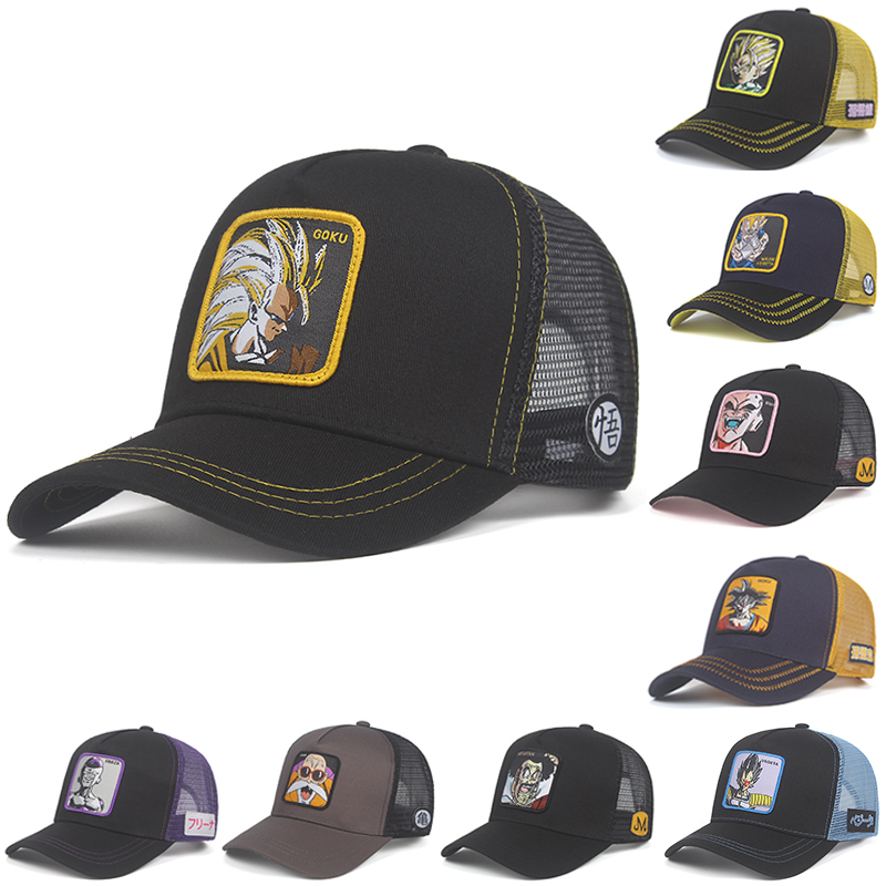 Mesh Hat Baseball-Cap Capsule Trucker-Hat Snapback Dragon-Ball Cotton Women Dad New-Brand title=